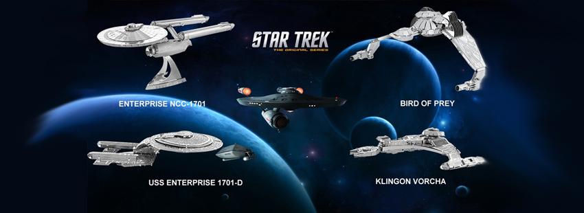 3Д пазлы из металла Звездный Путь (Star Trek)